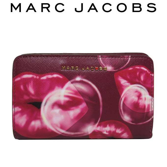 新品 マークジェイコブス MARC JACOBS 返品不可 人気ブランド 即納 財布 レディース M0013310 ギフト 645 送料無料 二つ折り財布 ウーマンズ 最安値に挑戦 サフィアーノ プリント リップ