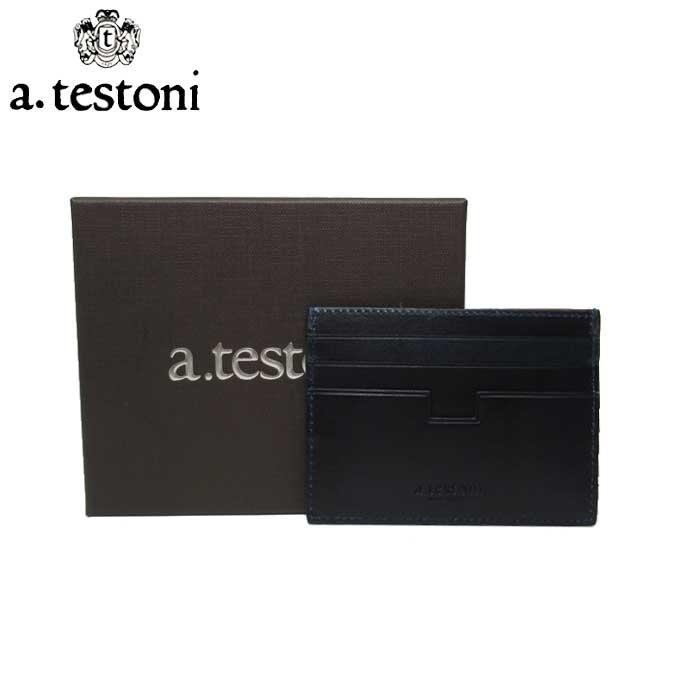 ラッピング対応 12時まで即日発送 日 除く ア テストーニ ブティック A.TESTONI 数量限定 カードケース WUAL351-98ANE-293 レザー NAVY 信用 SIMPLE メンズ CALF TOP ANTIQUE CARD CASE ギフト マチなし