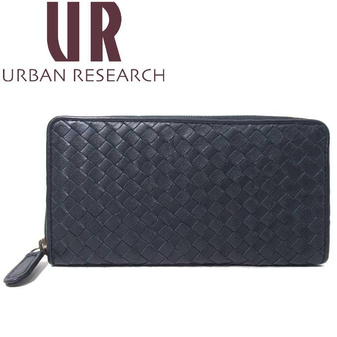 新品 アーバンリサーチ お値打ち価格で URBAN RESEARCH ギフト 出荷 即納 ギフトレーベル 長財布 メンズ MI URM7 編み込み GIFT LABEL THE ラウンドファスナー シープスキン レザー イントレチャート風