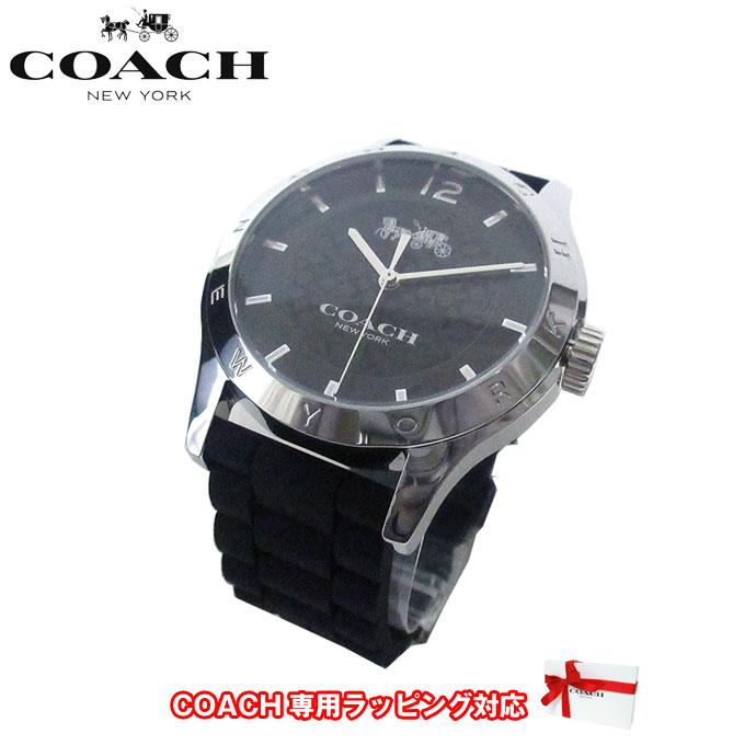 ●ギフトBOX付!!● コーチ アウトレット COACH 腕時計 14502217 W6033 BLK WMN / MADDY シリコンラバー 腕時計 文字盤:ブラック/ベルト:ブラック【腕時計】【メンズ】【s-mail03】