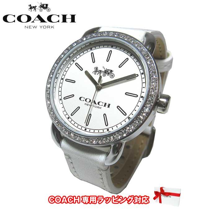 ●ギフトBOX付!!● コーチ アウトレット COACH 腕時計 14502388 W6051 WHT / ラインストーン レザー レディース腕時計 文字盤:ホワイト系/ベルト:ホワイト系【腕時計】【s-mail03】