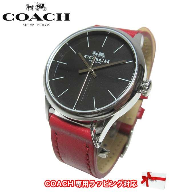 ●ギフトBOX付!!● コーチ アウトレット COACH 腕時計 14502936 RUBY レザー レディース腕時計 文字盤:ブラック/ベルト:レッド【腕時計】【s-mail03】