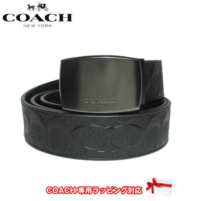 コーチ アウトレット COACH アパレル メンズ F12026 シグネチャー リバーシブル レザー ベルト BK/BK(ブラック)【ベルト】【メンズ】【カード分割】