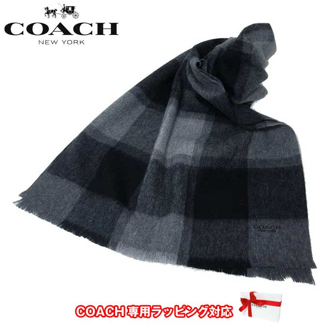コーチ アウトレット COACH アパレル F21055 ウール ビッグ ブレンド スカーフ /マフラー GRY(グレー)【カード分割】【メンズ】