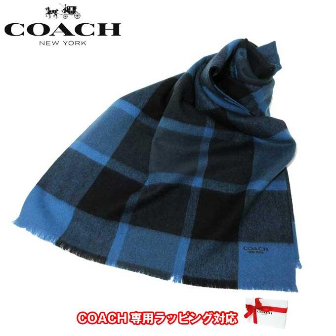 コーチ アウトレット COACH アパレル F21055 ウール ビッグ ブレンド スカーフ /マフラー NAV(ネイビー)【カード分割】【メンズ】