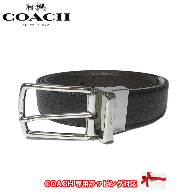 COACH リバーシブル ビジネス コーチ ギフト メンズ ベルト プレゼント ブラック f55158blk アウトレット レザー 父の日