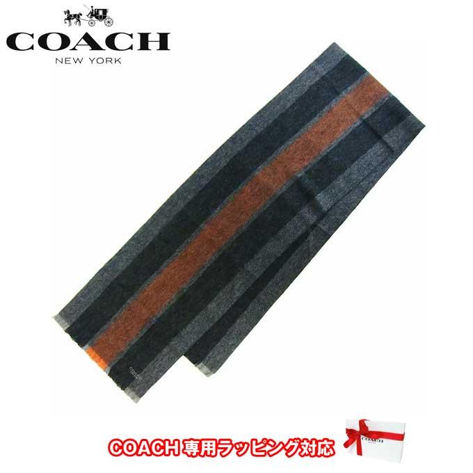 コーチ アウトレット COACH アパレル F86547 バーシティ スポーツ スカーフ マフラー FAZ(Orange/Fog)【メンズ】 【カード分割】