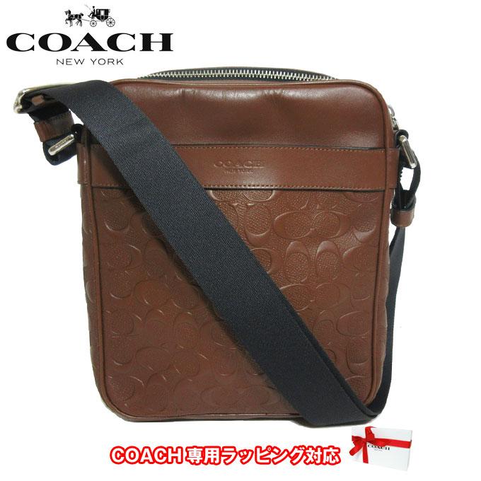 コーチ アウトレット COACH ショルダーバッグ F24868 クロスグレーン レザー シグネチャー フライト バッグ / ショルダー NISAD(サドル)【メンズ】 【カード分割】