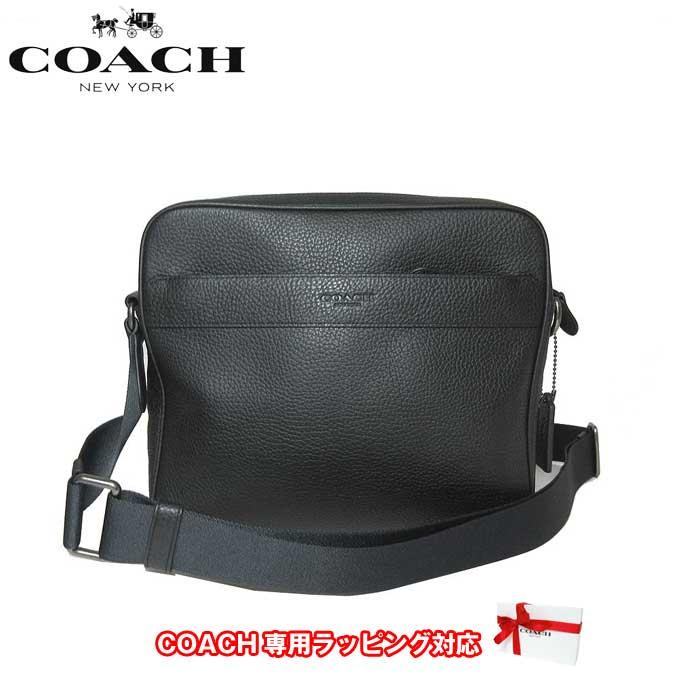 コーチ アウトレット COACH ショルダーバッグ F24876 チャールズ ペブルドレザー カメラバッグ 斜め掛け QB/BK(ブラック)【メンズ】【カード分割】【レディース】