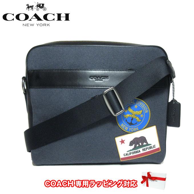 コーチ アウトレット COACH ショルダーバッグ F31344 フェルト チャールズ パッチワーク カメラバッグ / ショルダー QB/NY(ネイビーマルチ)【メンズ】【カード分割】