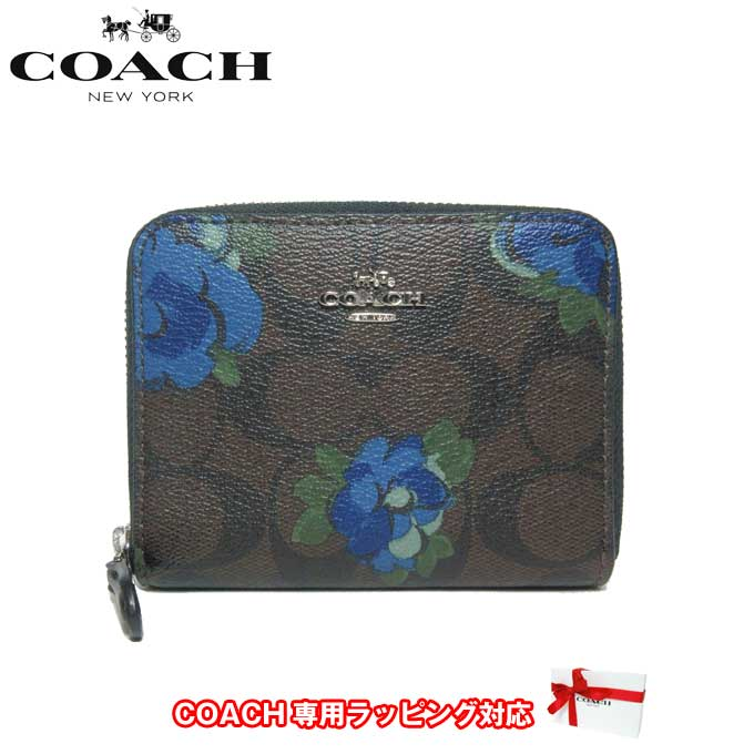 outlet store d3924 caa9a 花柄 コーチ レディース アウトレット 二つ折りミニ財布 F38704 ...