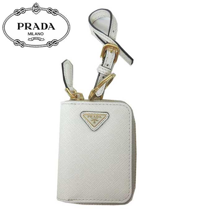 ●ギャラ無し● プラダ アウトレット PRADA キーホルダー 1TL085 サフィアーノ キーリング付き