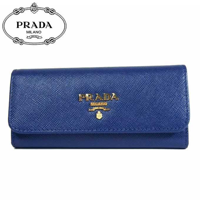 プラダ アウトレット PRADA キーケース 1M0223 サフィアーノ SAFFIANO METAL / BLUETTE 【カード分割】【メンズ】【レディース】