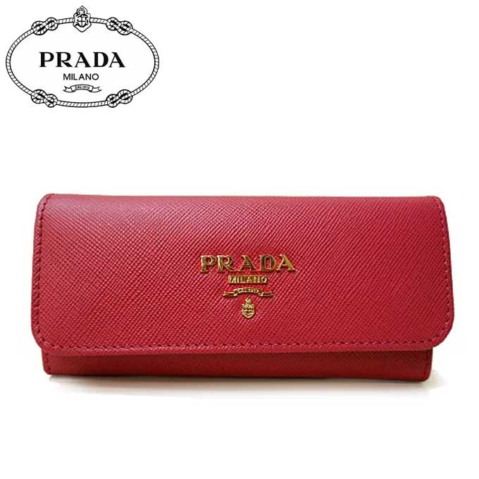 プラダ アウトレット PRADA キーケース 1M0223 サフィアーノ PEONIA 【カード分割】【レディース】