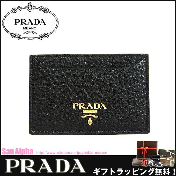 没有普拉达奥特莱斯PRADA卡片匣1MC208马蒂的皮革卡片匣VITELLO GRAIN/NERO