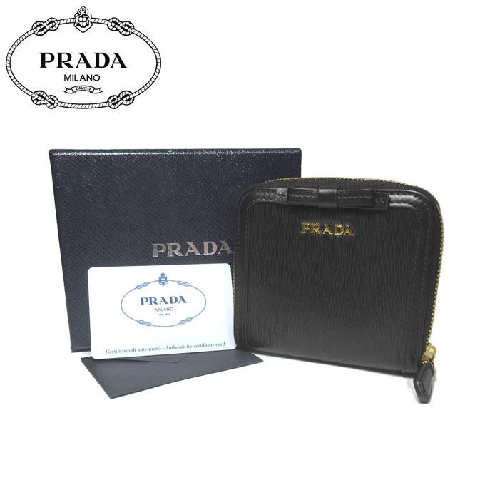 プラダ アウトレット PRADA 財布 1ML522 型押しレザー リボン 両開き財布 VITELLO MOVE FI / NERO【両開き】【レディース】【0815カード分割】【s-mail03】