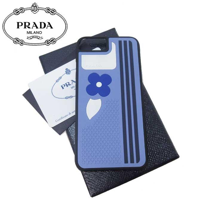 プラダ アウトレット PRADA モバイルアクセサリー 1ZH035 ラバー フラワー iPhone7 / iPhone8 対応ケース RUBBER FLOWER / ライトブルー系【0815カード分割】【レディース】