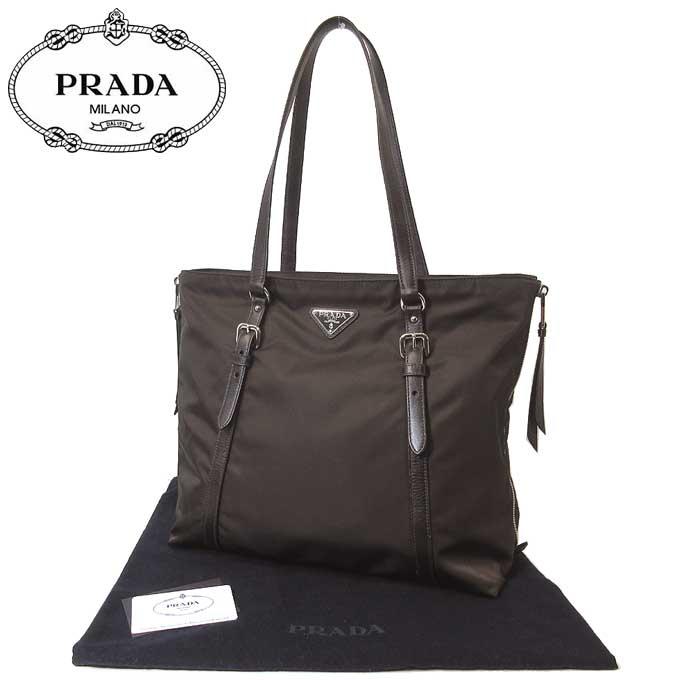 Prada outlet PRADA tote bag 1BG228 nylon Thoth TESSUTO+SOFT CA / CAFFE\'