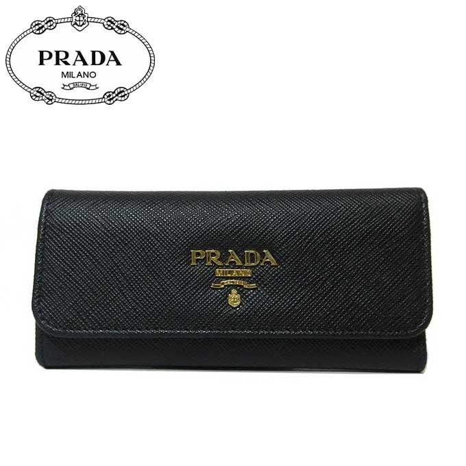 3d592d53e109 プラダ アウトレット PRADA キーケース 1M0223 サフィアーノ ロゴ 6連キーケース SAFFIANO METAL / NERO