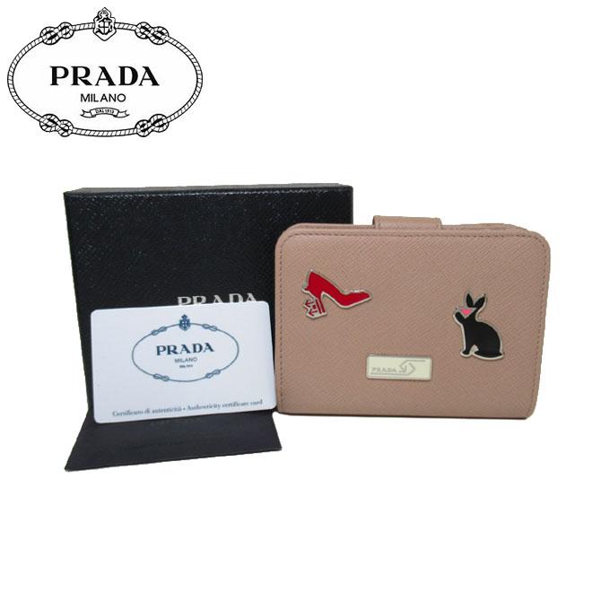 プラダ アウトレット PRADA 財布 1ML018 サフィアーノ×メタル L字ファスナー 両開き財布 SAFFIANO SMALTO / CIPRIA【レディース】