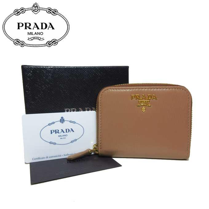 プラダ アウトレット PRADA 財布 1MM268 コインパース コインケース VITELLO MOVE / CARAMEL 【小銭入れ】 【カード分割】【レディース】