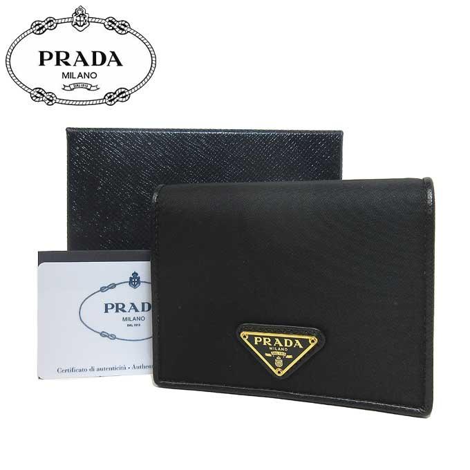 プラダ アウトレット PRADA 財布 1MV204 ナイロン 三角プレート 二つ折り財布 TESSUTO / NERO O【二つ折り】 【カード分割】【レディース】