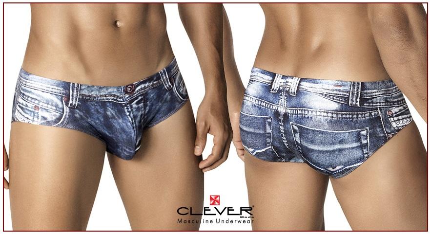 クレバー インディゴ ジーンズ ブリーフ 高級品 Boxer ボクサーIndigo Jeans 着後レビューで 送料無料 Brief