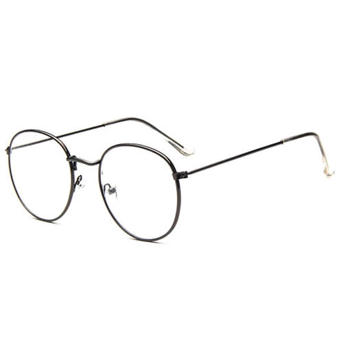 313c454d793 Stylish glasses simple dandy glasses uncle glasses sport glasses black edge  glasses Boston model round type pretty metal frame delicateness for show