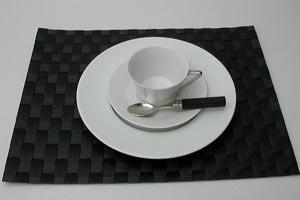 天然材料的质地 ! 德国总则其中) 制造的编织餐垫黑