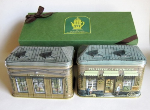 ノーベル賞の受賞晩餐会で飲まれていた絶品紅茶『北欧紅茶スモールハウス缶2個のセットギフト』スモールハウス缶は重ねて2階建てに!