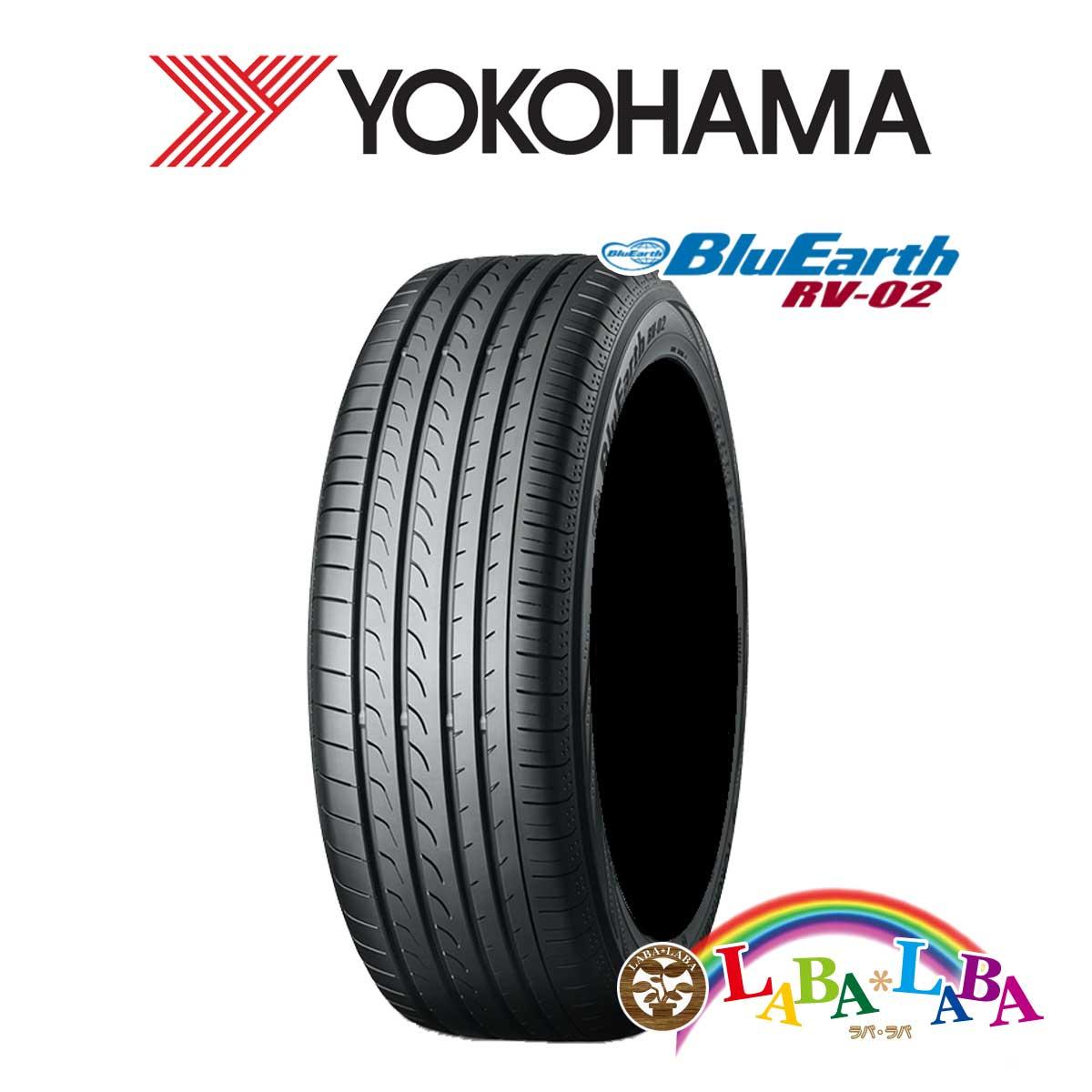 2本以上送料無料 国産タイヤ 送料0円 サマータイヤ 新品 タイヤのみ YOKOHAMA ヨコハマ 45R17 ミニバン 215 ブルーアース RV02 BluEarth 国内正規総代理店アイテム 95V