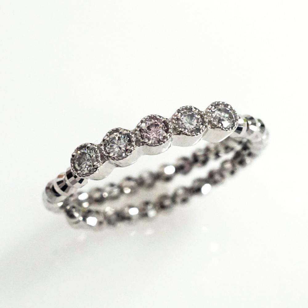 ピンクダイヤモンド サイズフリー プラチナ リング (R-209) アーガイルピンクダイヤ・プラチナ・レディースジュエリー