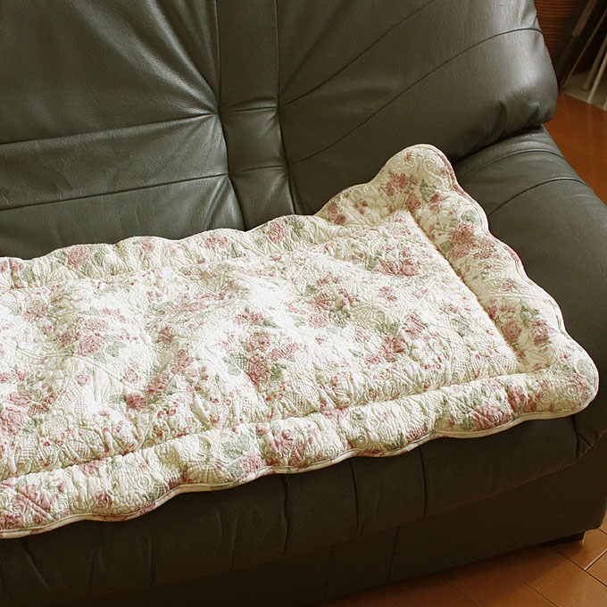 Long Seat Cushion About 45x145cm Rose Print Multi Needle Quilting