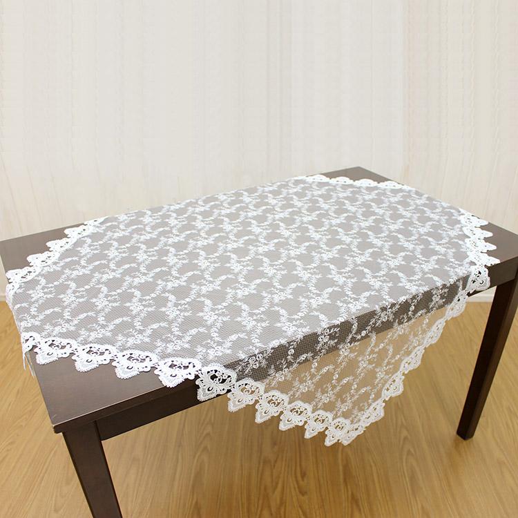 テーブルクロス 正方形 約110x110cm テーブル トップクロス レース 【ゆうパケット選択可】