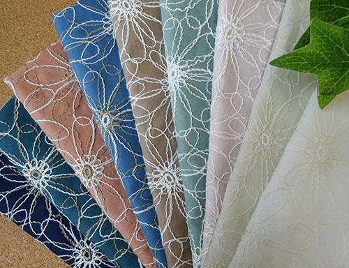 国産 花柄2トーン刺繍糸レース 9色 新商品!新型 1個96cmx50cm 2020春夏新作 4個までネコポス可能KLM47