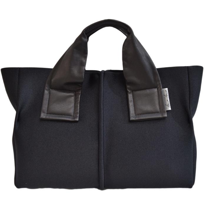 kawa-kawa カワカワ kawakawa wet ハンドバッグ ウェット 黒×黒 BLACK ブラック 大容量