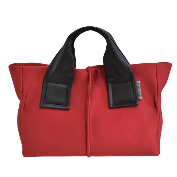kawa-kawa カワカワ kawakawa wet ハンドバッグ ウェット 赤×黒 RED BLACK レッド ブラック 大容量
