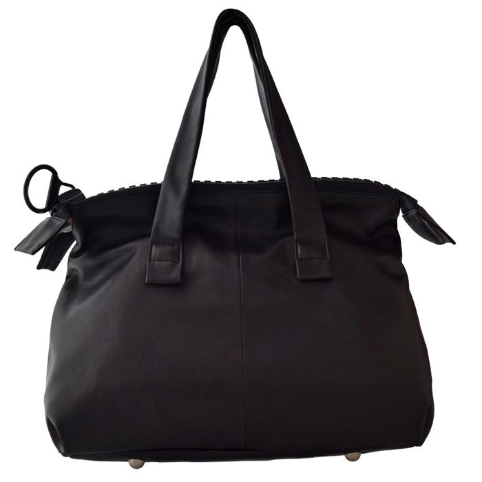 kawa-kawa カワカワ kawakawa 25bis ジップ ハンドバッグ トートバッグ 黒 BLACK ブラック 日本製 MADE IN JAPAN 天然皮革