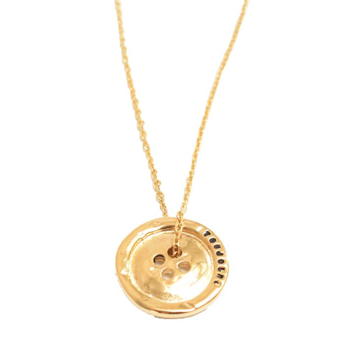 SERGE THORAVAL セルジュトラヴァル H.P.FRANCE Toujours いつも ネックレス ゴールド 金 GOLD ボタン