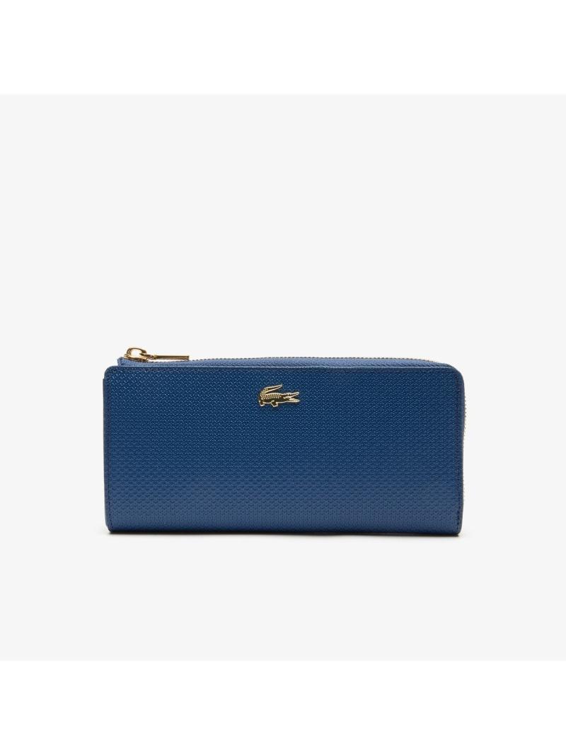 [Rakuten Fashion]CHANTACOピケレザーカード8枚収納財布 LACOSTE ラコステ 財布/小物 財布 ブラック ネイビー【送料無料】