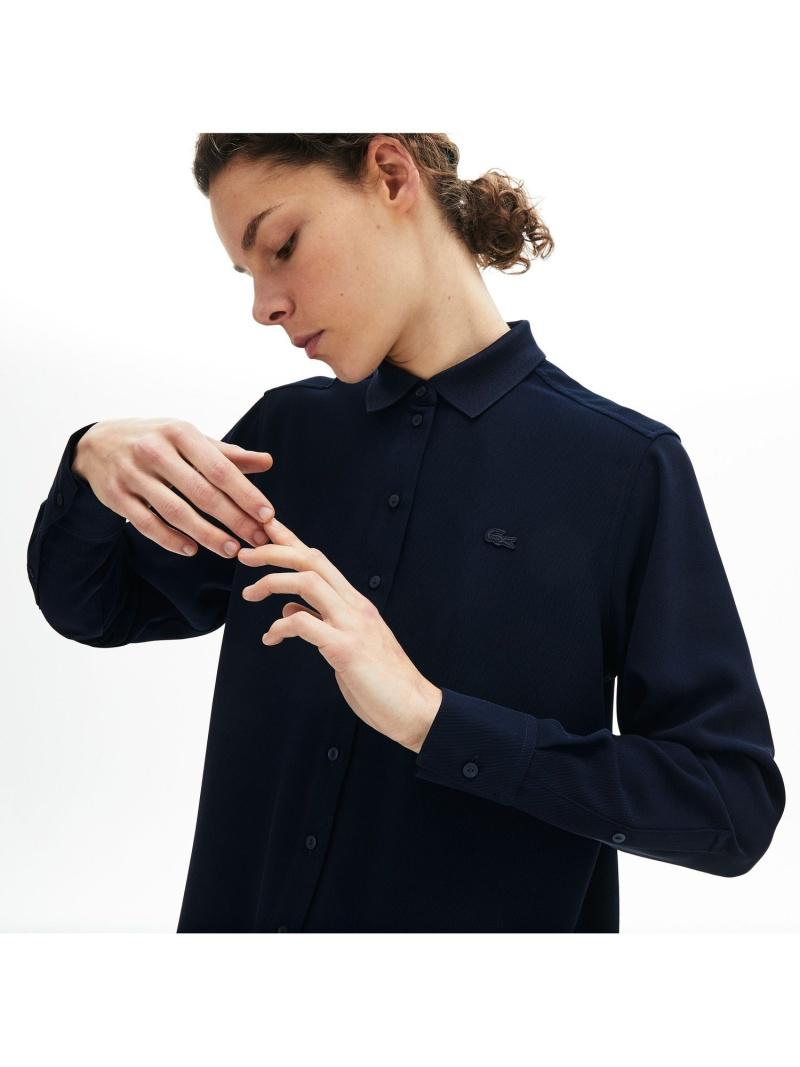 [Rakuten Fashion]【SALE/30%OFF】リラックスフィットフロウリーブラウス LACOSTE ラコステ シャツ/ブラウス 長袖シャツ ネイビー【RBA_E】【送料無料】