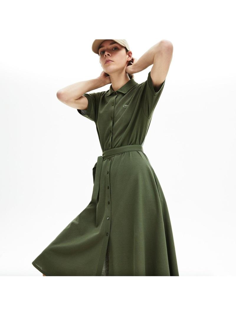 [Rakuten Fashion]ベルトデザインポロドレス LACOSTE ラコステ ワンピース シャツワンピース ホワイト【送料無料】