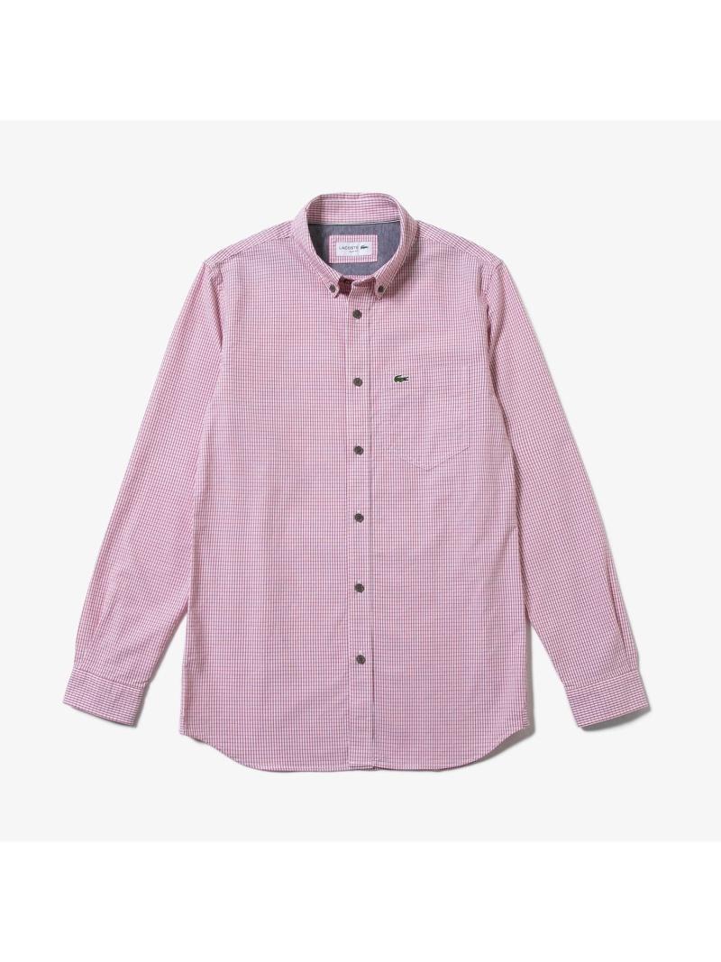 [Rakuten BRAND AVENUE]ストレッチオックスフォードボタンダウンシャツ LACOSTE ラコステ シャツ/ブラウス【送料無料】