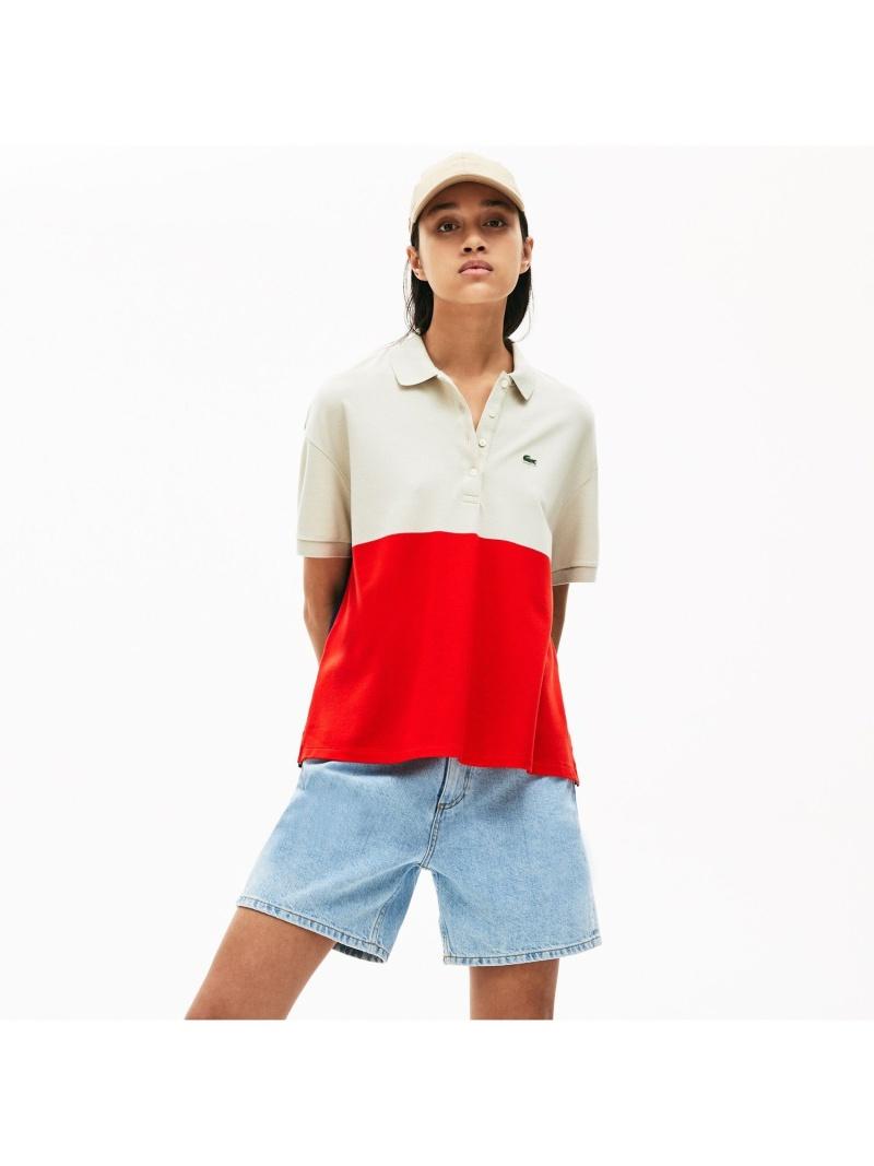 [Rakuten Fashion]【SALE/30%OFF】リラックスフィットカラーブロック軽量ピケポロシャツ(半袖) LACOSTE ラコステ カットソー ポロシャツ【RBA_E】【送料無料】
