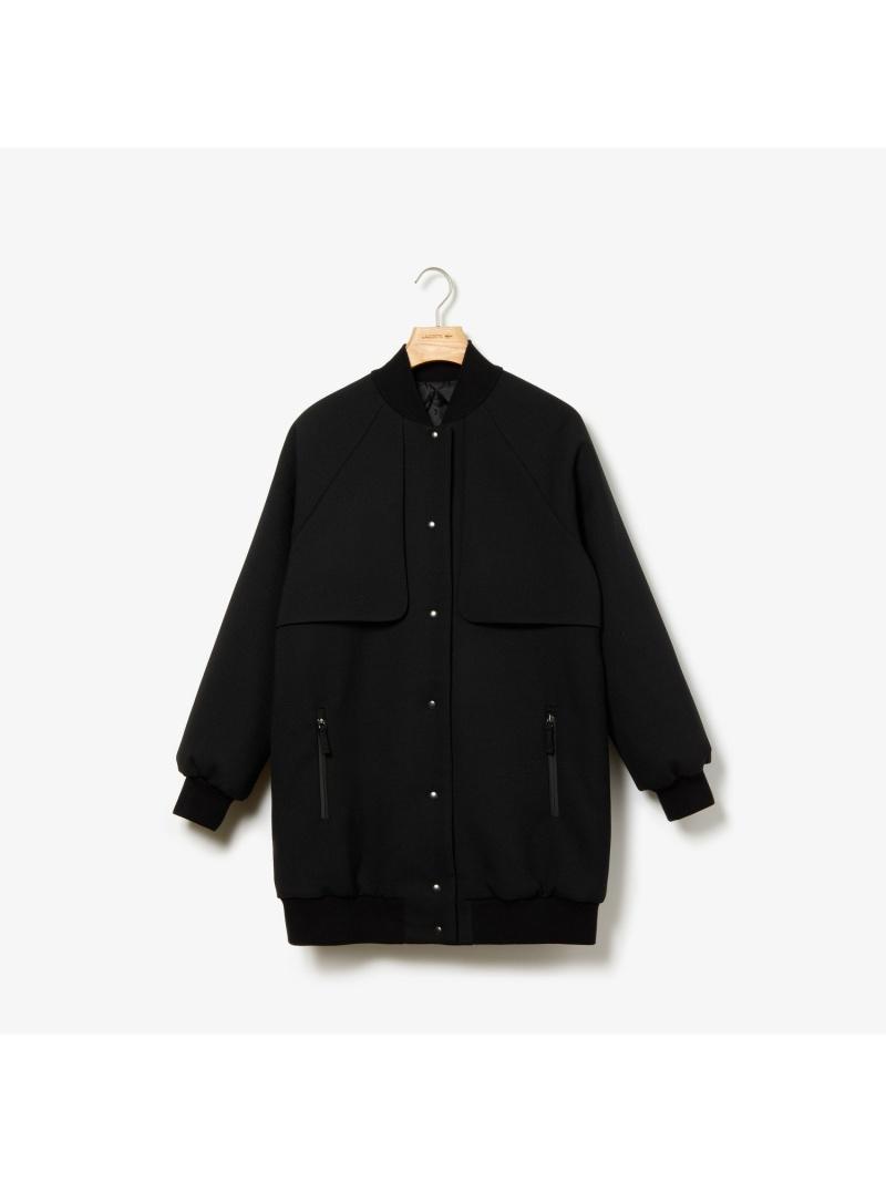 [Rakuten Fashion]【SALE/30%OFF】ロングバーシティコート LACOSTE ラコステ コート/ジャケット ブルゾン ブラック【RBA_E】【送料無料】