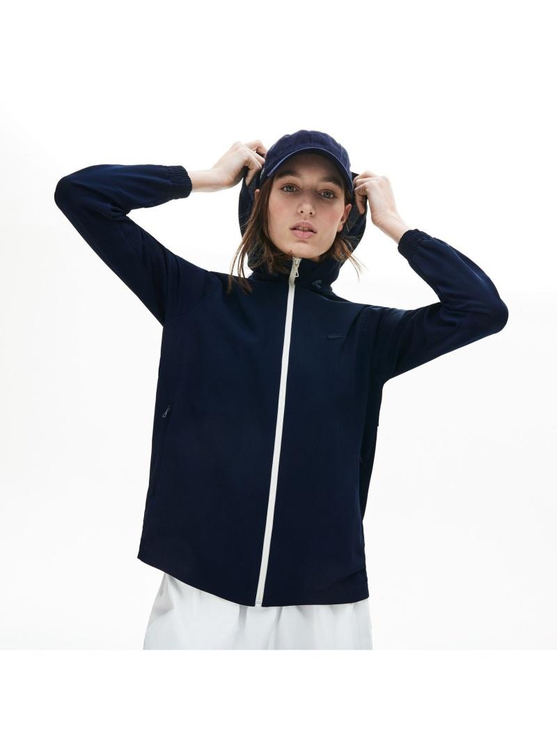 [Rakuten Fashion]ライン配色ジップアップパーカ LACOSTE ラコステ カットソー スウェット【送料無料】