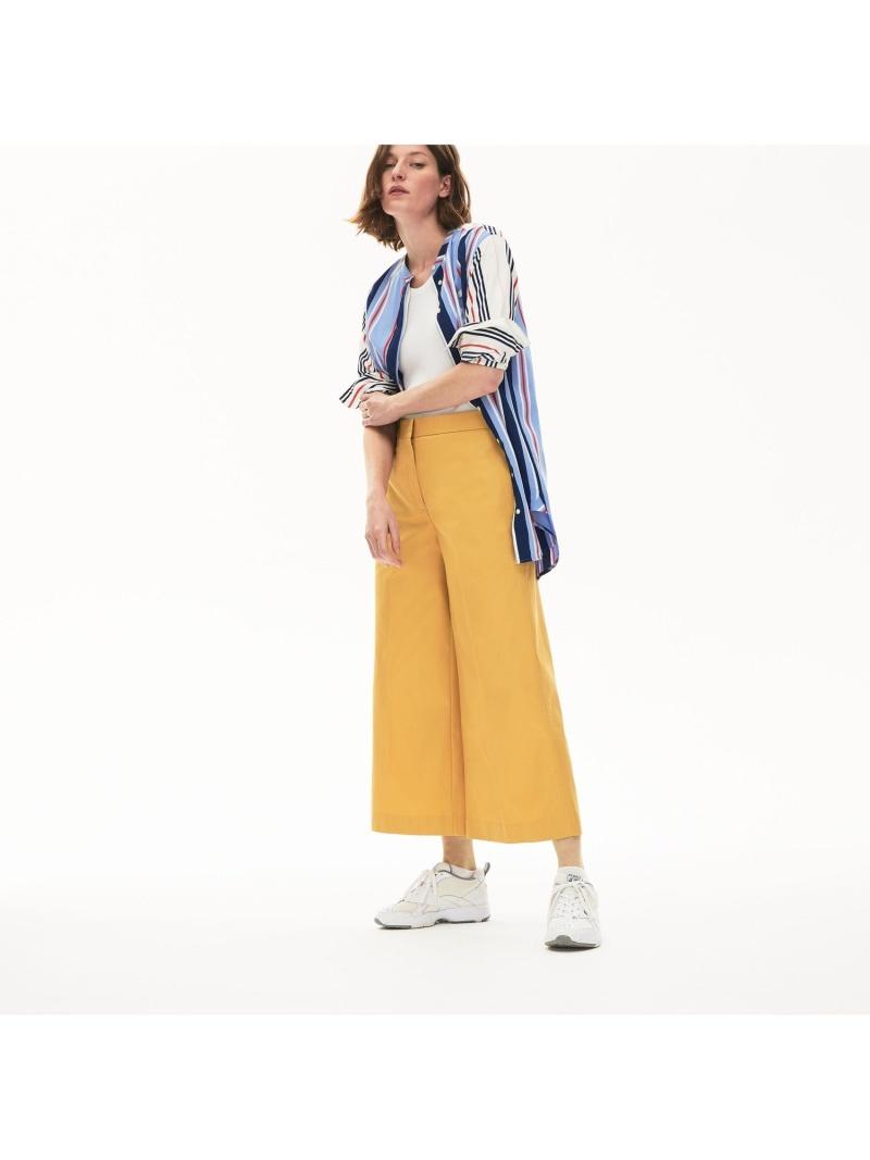 [Rakuten Fashion]【SALE/40%OFF】ワイドプレミアムコットンパンツ LACOSTE ラコステ パンツ/ジーンズ ワイド/バギーパンツ ネイビー【RBA_E】【送料無料】