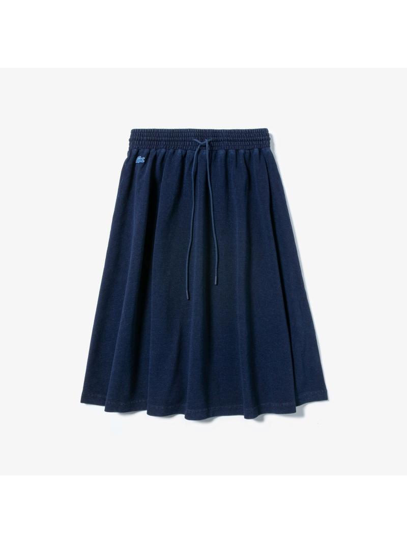 [Rakuten BRAND AVENUE]インディゴ鹿の子地ギャザースカート LACOSTE ラコステ スカート【送料無料】