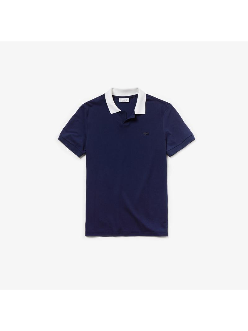 [Rakuten Fashion]【SALE/30%OFF】スキッパーネックポロ LACOSTE ラコステ カットソー ポロシャツ ネイビー【RBA_E】【送料無料】