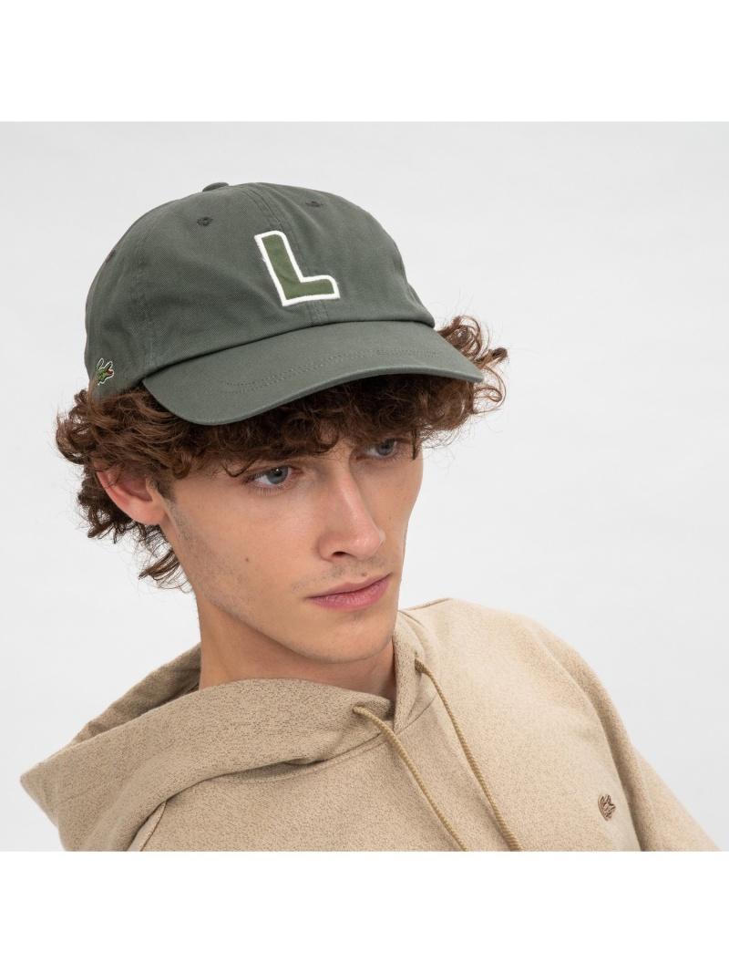 rba_rb09 人気ブランド多数対象 LACOSTE メンズ 帽子 ヘア小物 ラコステ Rakuten Fashion イニシャルアップリケキャップ ネイビー ブラック キャップ 送料無料 カーキ 激安通販 ホワイト ベージュ